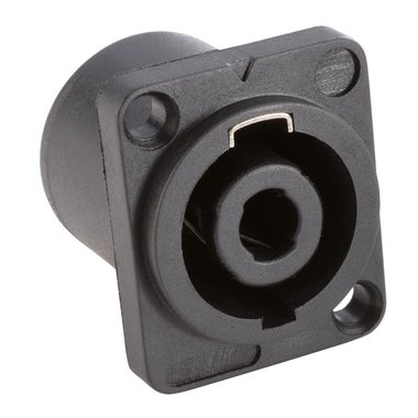 TRS 4P. Speakon speaker chassis female black