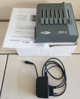Showtec SDC-6 6-channel DMX controller fader desk