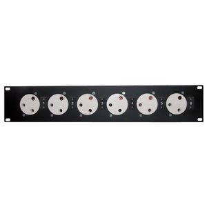"""Showtec Powerpanel 6 19"""" Panel with 6 pieces BS-15 connector"""